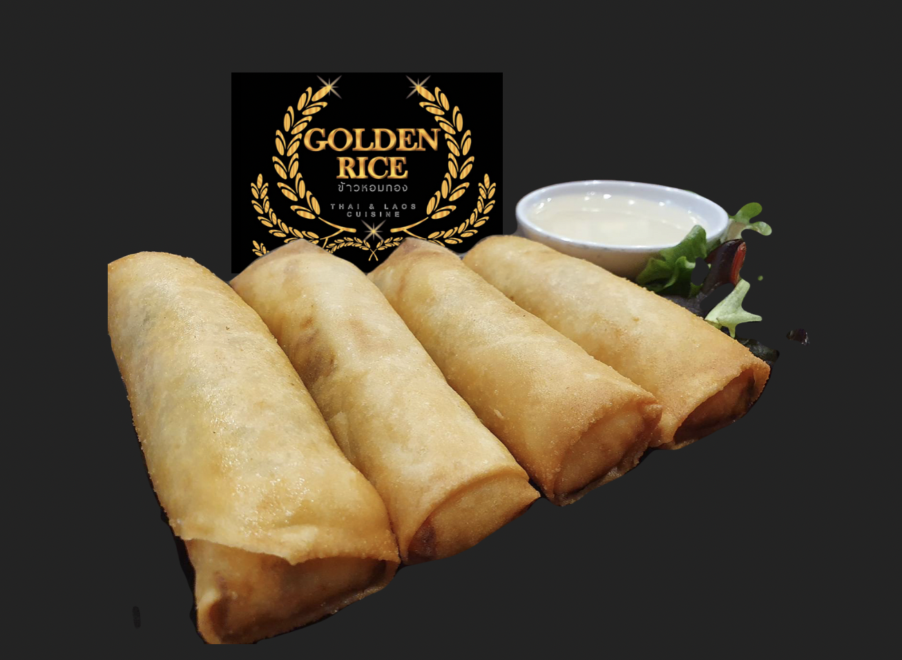 Golden rice spring rolls